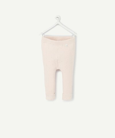 New collection radius - POWDER PINK KNIT LEGGINGS