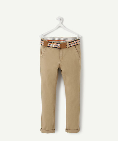 Trousers size + radius - SIZE+ BELTED CHINO TROUSERS