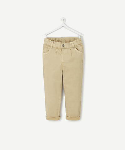 All collection radius - STRAIGHT BEIGE STRETCH TROUSERS