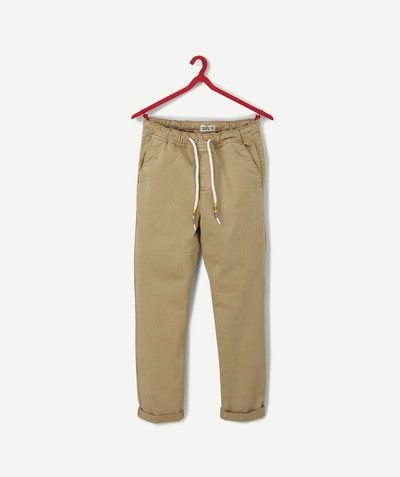 All collection Sub radius in - BEIGE CHINO TROUSERS WITH DRAWSTRING CORDS