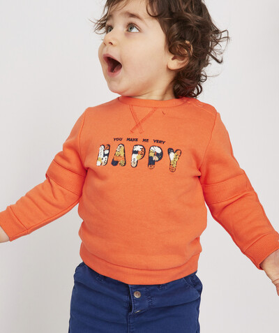 Pull - Sweat Rayon - LE SWEAT EN COTON BIOLOGIQUE ORANGE