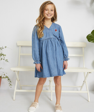 Dress radius - WRAP-AROUND DRESS IN A DENIM EFFECT