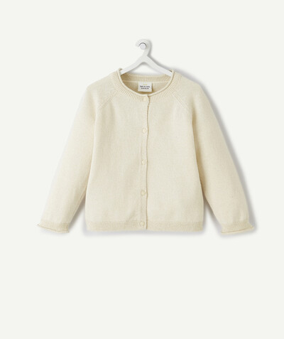 Basics radius - CREAM CARDIGAN IN A SPARKLING KNIT