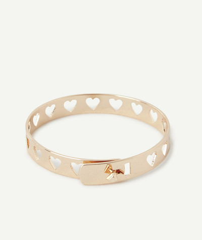 All Collection radius - GOLDEN BANGLE WITH HEART CUTOUTS