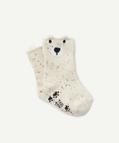 All collection radius - PAIR OF SPECKLED BEAR SOCKS