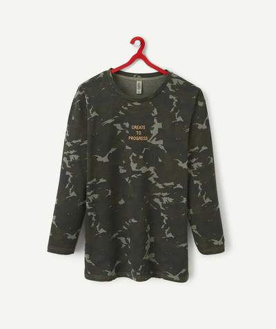 Teen Boy radius - CAMOUFLAGE PRINT T-SHIRT IN ORGANIC COTTON