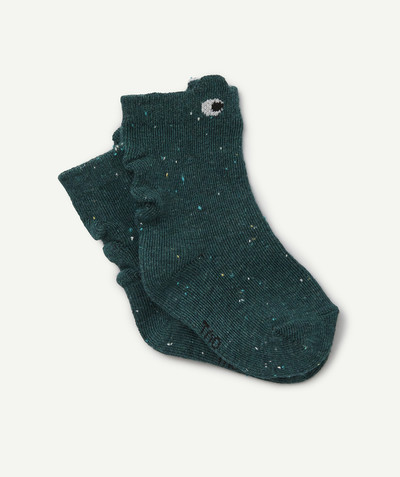 All collection radius - PAIR OF GREEN SPECKLED FROG SOCKS