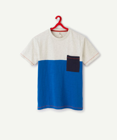 All collection Sub radius in - COLOUR BLOCK T-SHIRT IN ORGANIC COTTON