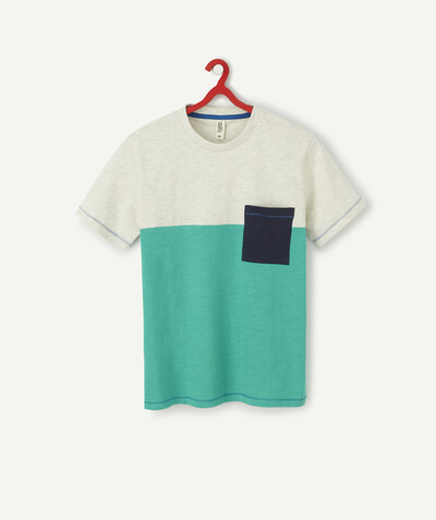 T-shirt radius - COLOUR BLOCK T-SHIRT IN ORGANIC COTTON