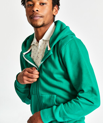 Sweatshirt radius - GREEN ZIPPED SWEATSHIRT