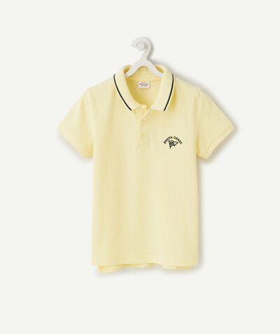 Shirt - Polo radius - POLO SHIRT IN YELLOW COTTON PIQUE