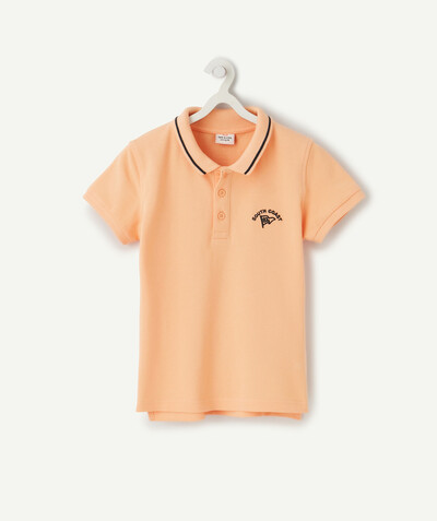 Shirt - Polo radius - POLO SHIRT IN ORANGE COTTON PIQUE
