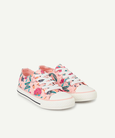 All Collection radius - PINK PRINTED TRAINERS WITH ADJUSTABLE ELASTICATED LACES
