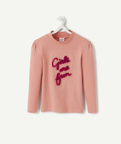 Toute la collection Rayon - LE SOUS PULL ROSE AU MESSAGE EN RELIEF