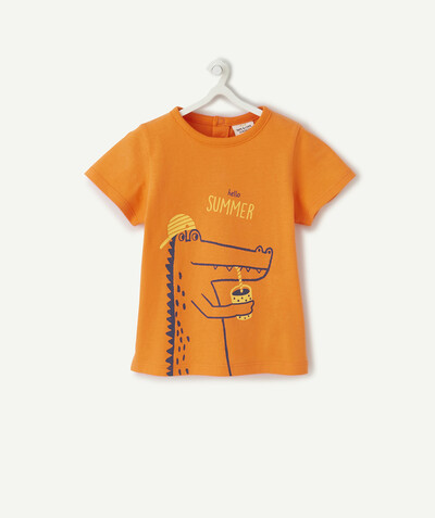 All collection radius - ORANGE T-SHIRT IN ORGANIC COTTON