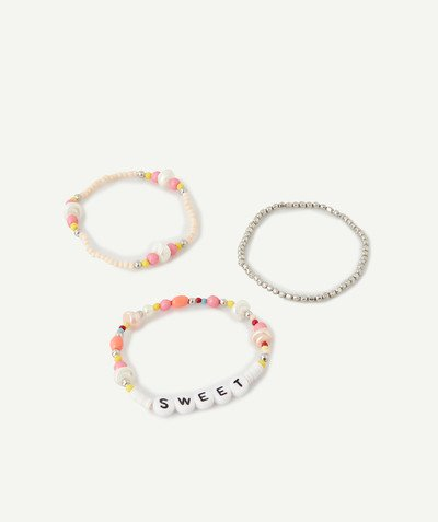 Nouvelle collection Rayon - LE LOT DE 3 BRACELETS AVEC PERLES COLORÉES