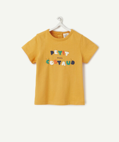 T-shirt Rayon - LE T-SHIRT ORANGE EN COTON BIOLOGIQUE AU MESSAGE COLORÉ
