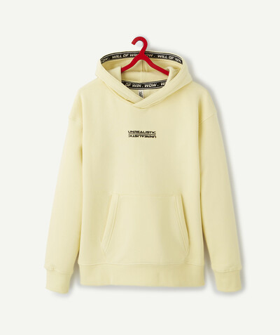 All collection Sub radius in - PASTEL YELLOW SWEATSHIRT IN ORGANIC COTTON