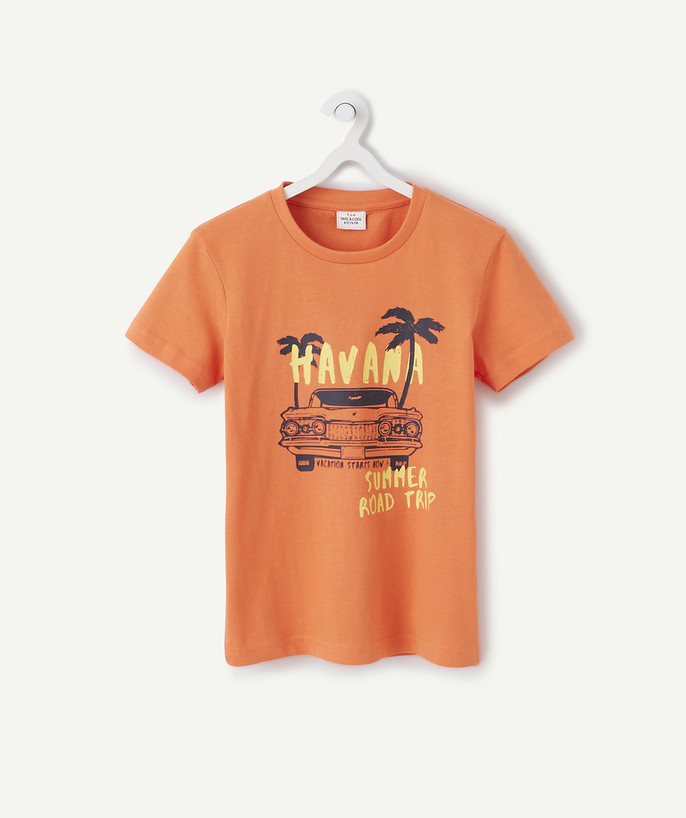 Basics radius - ORANGE T-SHIRT IN ORGANIC COTTON