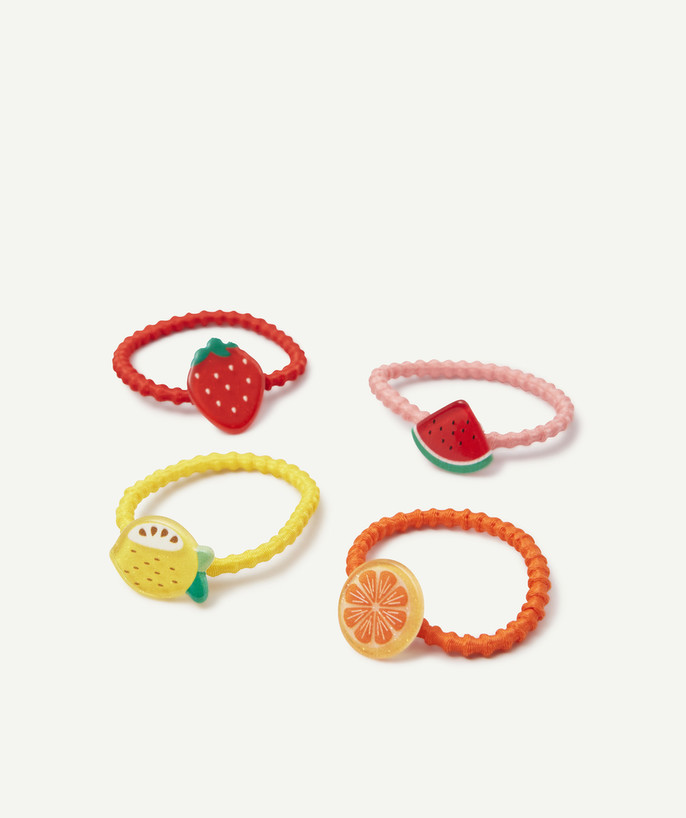 Baby-girl radius - FOUR COLOURED HAIR ELASTICS