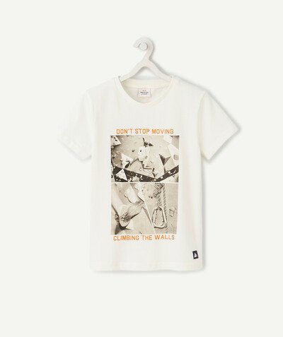 Sportswear radius - CREAM PHOTO-PRINT T-SHIRT IN ORGANIC COTTON