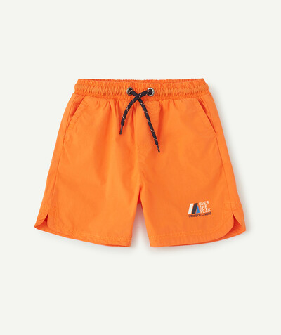 Sportswear radius - ORANGE CANVAS BERMUDA SHORTS