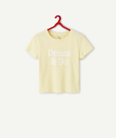 All collection radius - YELLOW T-SHIRT AND ORGANIC COTTON WITH FELT