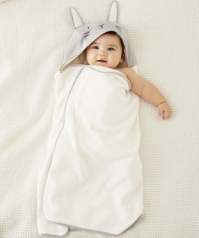 All accessories radius - RABBIT BATH CAPE IN ORGANIC COTTON