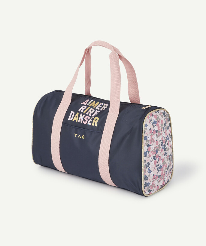 Sportswear radius - BOWLING BAG IN PLAIN AND FLOWER-PATTERNED CANVAS