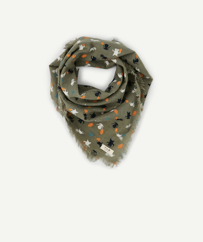 Baby-boy radius - KHAKI SCARF WITH CUT EDGES