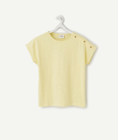All Collection radius - LOOSE YELLOW T-SHIRT IN ORGANIC COTTON