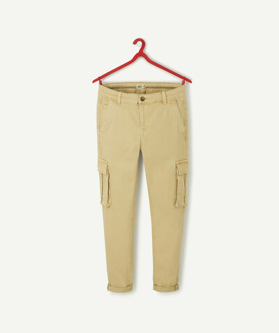 All collection Sub radius in - BEIGE CARGO TROUSERS