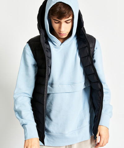 Outlet radius - BLUE OVERSIZED SWEATSHIRT IN ORGANIC COTTON