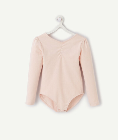 Sportswear radius - PINK BODY IN ORGANIC COTTON WITH SPARKLING STRIPES