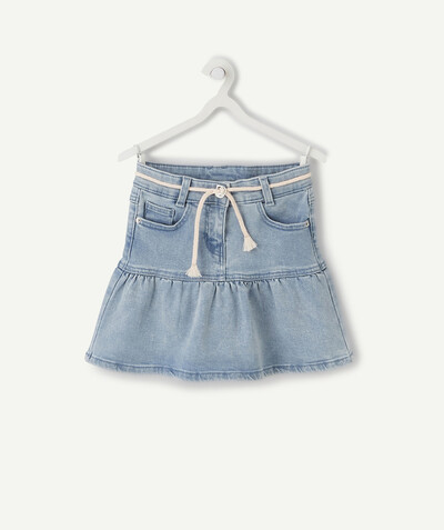 Spring looks ideas radius - FRILLY SKIRT IN PALE DENIM