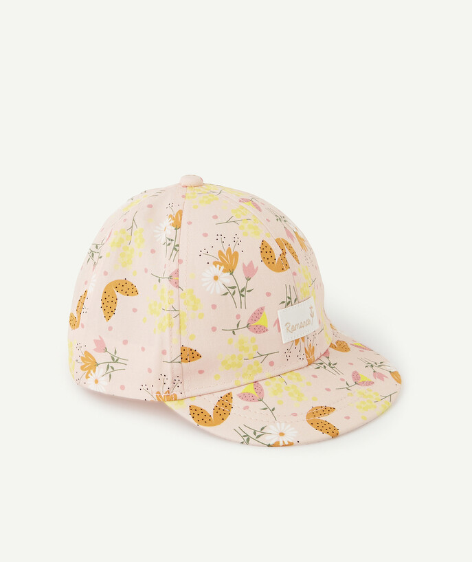Accessories radius - PINK CAP WITH COLOURED FLOWERS
