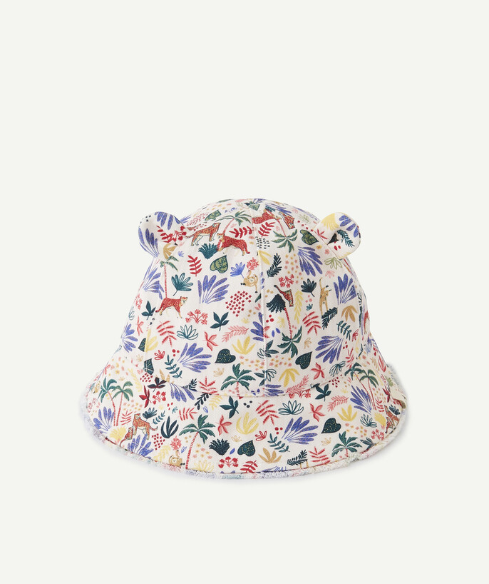 Accessories radius - WHITE BUCKET HAT WITH COLOURED PRINTS