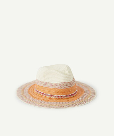 Special occasions' accessories radius - TRICOLOURED STRAW HAT