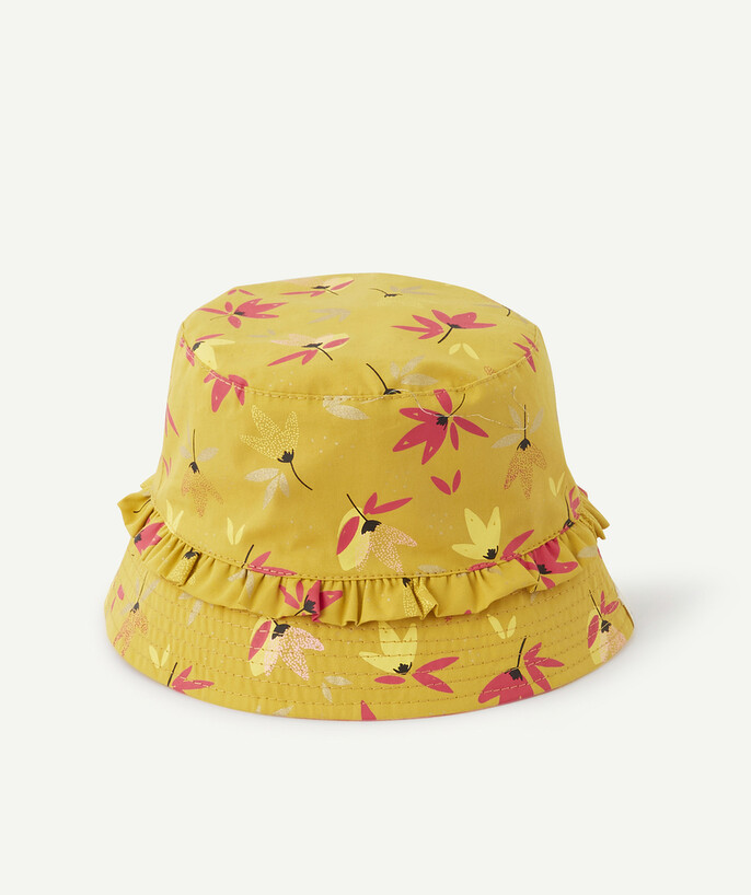 Accessories radius - REVERSIBLE YELLOW AND PINK FLOWER-PATTERNED BUCKET HAT