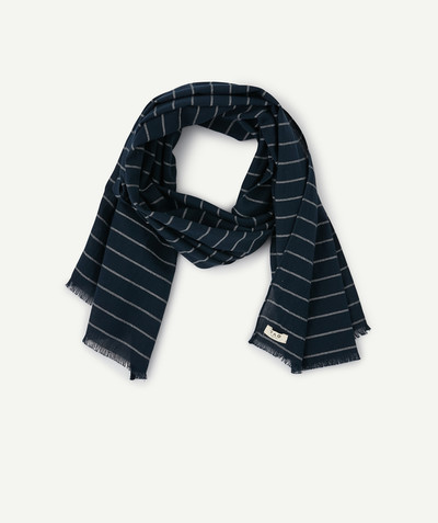 Accessories radius - NAVY BLUE CUT EDGED SCARF