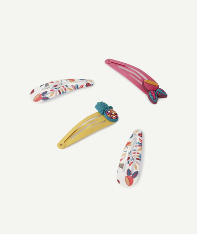 All Collection radius - SET OF FOUR TROPICAL DESIGN HAIR SLIDES