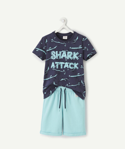Nouvelle collection Rayon - LE PYJAMA SHORT REQUINS EN COTON BIOLOGIQUE
