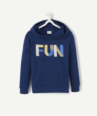 ECODESIGN radius - ROYAL BLUE EMBROIDERED SWEATSHIRT IN ORGANIC COTTON