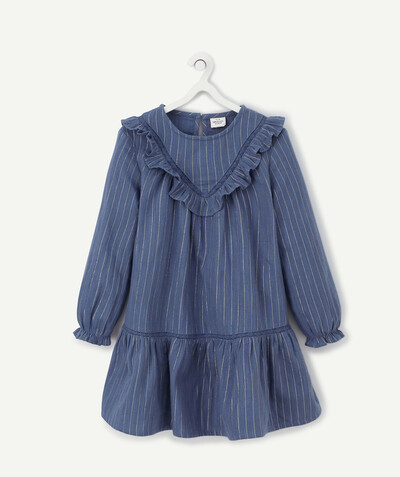 Dress radius - BLUE DRESS WITH SPARKLING STRIPES