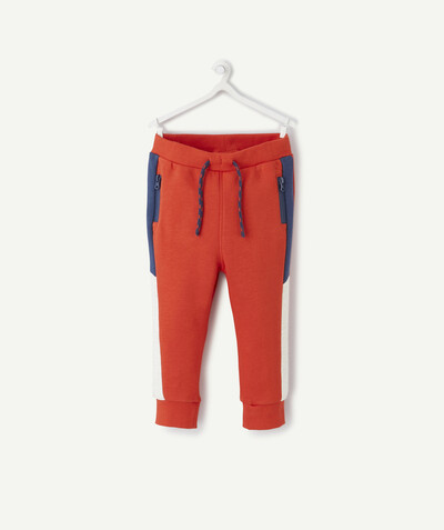 All collection radius - ORANGE JOGGING PANTS IN ORGANIC COTTON