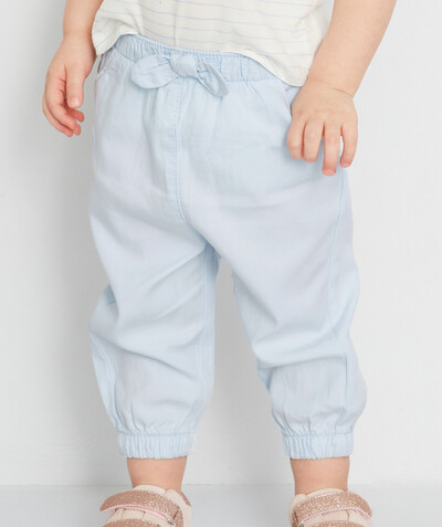 Basics radius - SKY BLUE TROUSERS IN TENCEL�