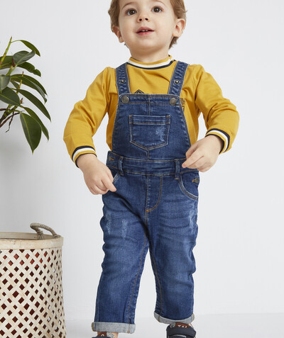 All collection radius - DUNGAREES IN STONEWASHED DENIM