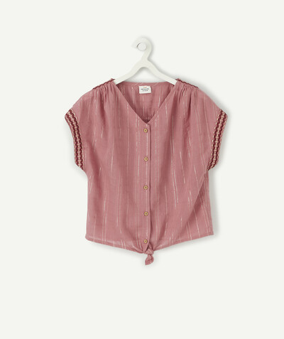 Shirt - Blouse radius - TERRACOTTA KNOTTED BLOUSE