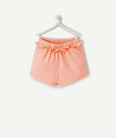 Short Rayon - LE SHORT EN COTON BIOLOGIQUE ORANGE FLUO