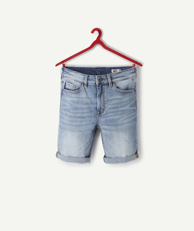 Basics Sub radius in - STRAIGHT, FADED DENIM BERMUDA SHORTS